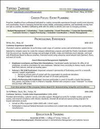 Event Planning Skills Resume Wedding Planner Resume Wedding Coordinator Resume Cuyb Event