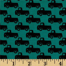 Home Decor Fabrics Australia by Michael Miller Tiny Trucks Teal Discount Designer Fabric