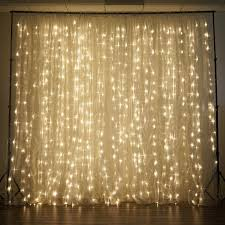 600 led lights wedding party organza curtain backdrop warm