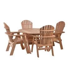 western red cedar 5 piece dining set