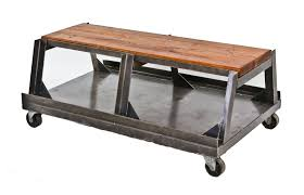Repurposed Coffee Table by 1940 U0027s Repurposed Oversized Heavy Gauge All Welded Joint Angled
