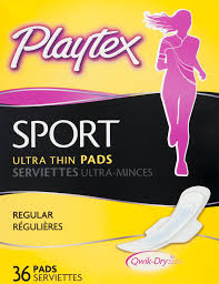 Ultra Fin Radiant by Playtex Sport Ultra Thin Pads Regular 36 Ct Walmart Com
