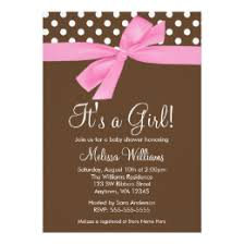 pink and brown baby shower baby shower pink and brown polka dots invitations announcements