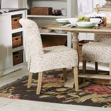 Dinning Chair Covers Samsara Linen Slip Cover For Echo Low Back Dining Chair Oka
