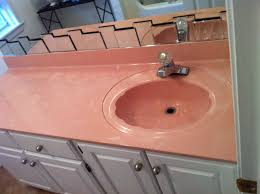 Pink Bathroom Vanity Resurface Bathroom Sink And Counter From Old Pink To Modern Stone