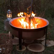 Oriflamme Fire Tables Handcrafted Copper Fire Pit Grill Table The Green Head