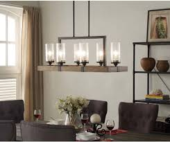 Lighting Kitchen 6 Light Metal Wood Chandelier Dining Room Kitchen Light Fixture
