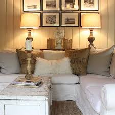 Slipcovered Sectional Sofa by Slipcovered Sectional Cottage Living Room Jennifer Worts Design