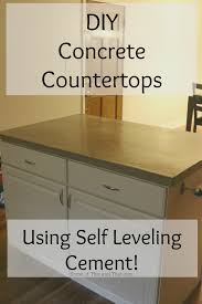 Cement Kitchen Countertops Diy Concrete Countertops Using Self Leveling Cement Some Of