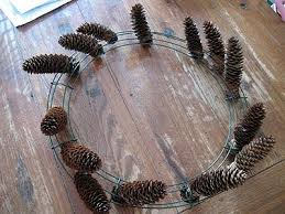 pine cone wreath black pine cone wreath crafts by amanda