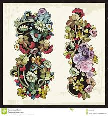 floral ornaments in russian traditional style stock vector image