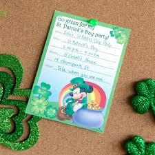 st patrick u0027s day party invitations disney family