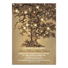weeding card vintage string lights tree rustic country wedding card zazzle