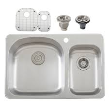 s997 overmount 18 gauge stainless steel double bowl kitchen sink