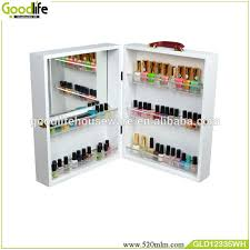 Nail Varnish Cabinet Portable Wooden Box For Storage Nail Polish Wholesale From
