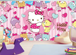kids wall mural hello kitty fotomurales arte kids wall mural hello kitty