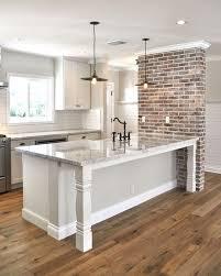 Kitchen Wall Design Ideas Best 25 Brick Accent Walls Ideas On Pinterest Kitchen Island