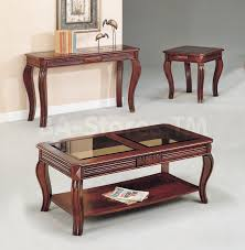 sofa center table glass top 465 00 overture cherry 3 pc coffee and end table set coffee