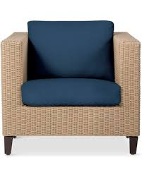 Patio Club Chair Spectacular Deal On Fullerton Wicker Patio Club Chair Navy Blue