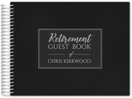 guest book personalized retirement guest books custom guestbooks