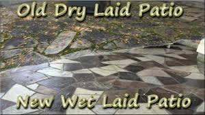 How To Lay Flagstone Patio Flagstone Patio Rebuild Dry Laid To Wet Laid Using New U0026 Old