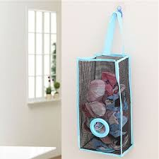 hanging ls for kitchen pvc grid mesh hanging garbage bag sundries storage organizer kitchen