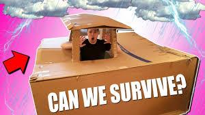 ultimate box fort vs thunderstorm challenge
