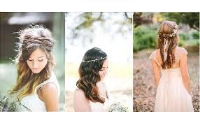 coiffure mariage boheme coiffure de mariée 10 idées avec les cheveux lâchés