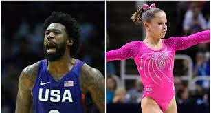 Deandre Jordan Meme - deandre jordan completely dwarfs gymnast in funny photo for the win