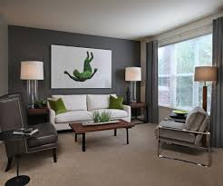 futuristic light grey walls with dark wood tri 4980 homedessign com