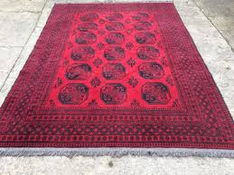 Bokhara Rugs For Sale Antique Bokhara Rug Carpet Red 100 Wool Large Handwoven For Sale