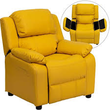 deluxe padded contemporary yellow kids recliner d bt 7985 kid