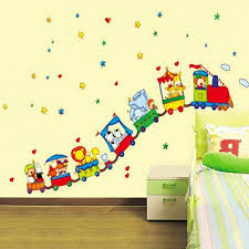 Aliexpresscom  Buy Hot Animal Circus Train Design Vinyl Wall - Animal wall stickers for kids rooms