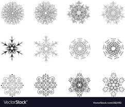 snowflake ornaments snowflake ornaments royalty free vector image vectorstock