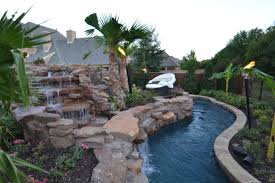 Backyard Pool With Lazy River Colleyville Residential Lazy River Farleypooldesigns Com 817 522