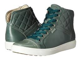 womens boots hobart ecco 7 quilted high top womens frosty green ecco shoes