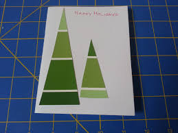 quinn stitch how to make paint chip tree christmas cards diy