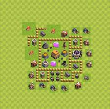 coc village layout level 5 clash of clans best plans layouts plan town hall level 5 th 5