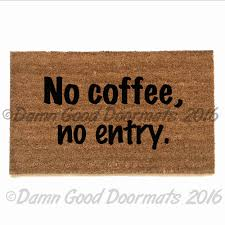 Long Doormats Entryways Go Away Black 17 In X 28 Non Slip Coir Door Mat Amazing