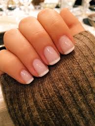 classy french manicure using waltz by essie i love the length