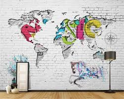 beibehang wallpaper mural living room bedroom tv backdrop brick beibehang wallpaper mural living room bedroom tv backdrop brick wall graffiti world map background wallpaper for walls 3 d in wallpapers from home