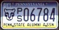penn state alumni license plate pennsylvania y2k