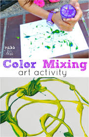 fun activities for children color mixing art mess for less