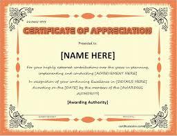 certificate of appreciation certificate of appreciation a4