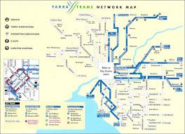 melbourne tram map melbourne tram map melbourne australia mappery