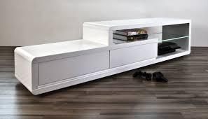 axe design meuble meuble tv design alice ii laqué blanc à led media wall