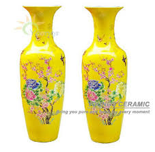 Vases For Sale Wholesale Chinese Ceramic Yellow Colour Large Decorative Floor Vases From