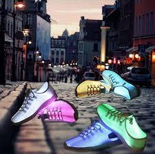 light up shoes that change colors fiber optic led light up shoes 11 colors usb charging flashing sneakers
