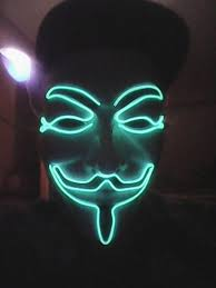 anonymous mask spirit halloween led guy fawkes mask anonymous light up mask emazinglights