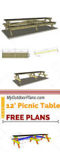 Free Plans For Outdoor Picnic Tables by Best 25 Picnic Table Plans Ideas On Pinterest Outdoor Table